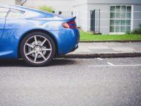 hitting a curb